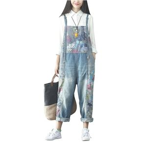 Women's Baggy Loose One Size Denim Overall